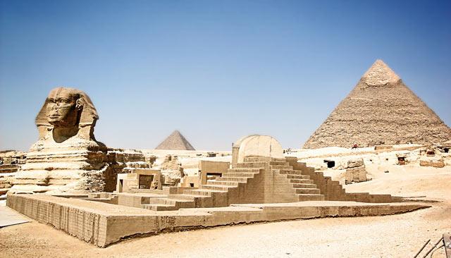cultura y civilización egipcia - pirámide y esfinge