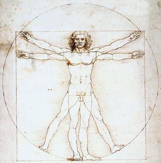 el renacimiento - Da Vinci - hombre de vitruvio