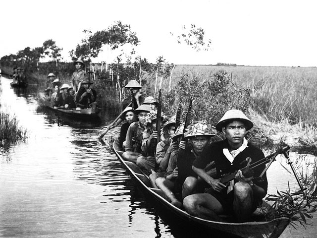 guerra vietnam - milicianos del vietcong