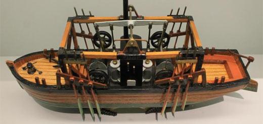 inventos revolución industrial - bote vapor