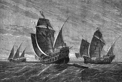 los viajes de cristóbal colón - la pinta, la niña y la santa maría