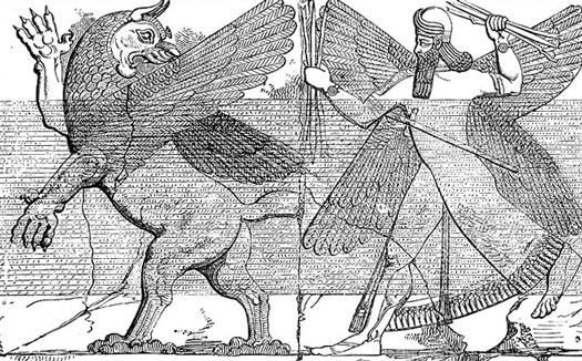 marduk contra el dragón - mesopotamia