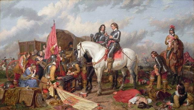 revolución inglesa - Oliver Cromwell en el campo de batalla
