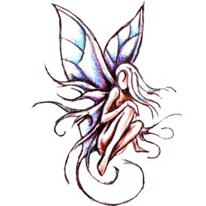 Dark Fairy Tattoo Design