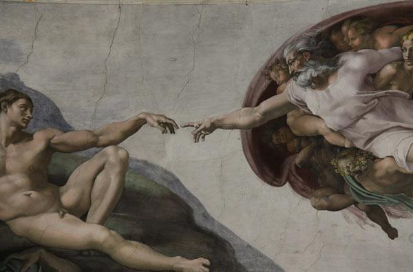 La creación de Adán - Miguel Ángel