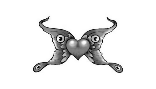Diseños En Blanco Y Negro Para Tatuajes De Corazones