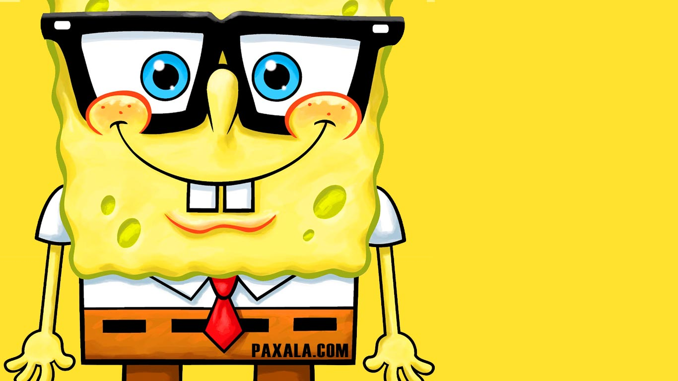 Cartoon Character Design For Tarpaulin : Wallpaper bob esponja con anteojos