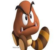Wallpaper: Goomba sobre fondo Blanco