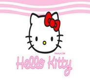 Wallpaper: Hello Kitty sobre fondo Blanco