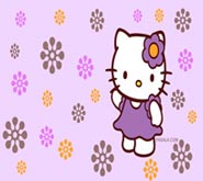 Wallpapers: Hello Kitty Flores Moradas