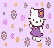 Wallpapers: Hello Kitty Flores Moradas