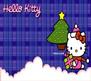 Wallpaper: Hello Kitty Navidad