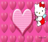 Wallpaper: Hello Kitty en el Día de los Enamorados