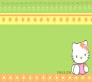 Wallpaper: Hello Kitty sentada