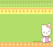 Wallpaper: Hello Kitty sentada
