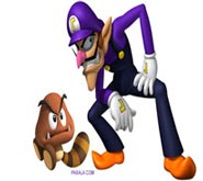 Wallpaper: Waluigi y Goomba